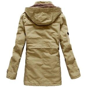 Image 3 - חורף מעיל גברים מזדמן לעבות כותנה חם גשם ארוך מעיל מעיל רוח Parka צמר מעילים בתוספת גודל 5XL מעיל צבא מעילים