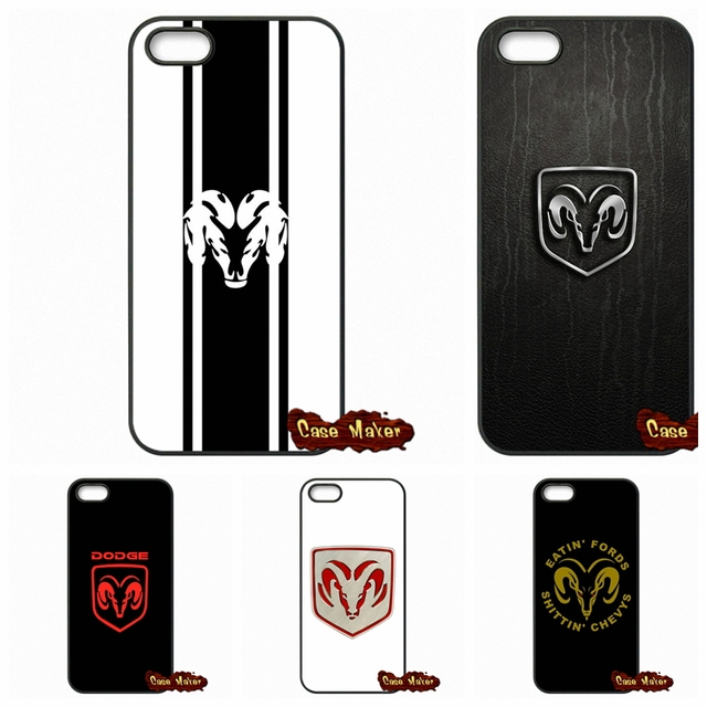 meet 073c9 24a58 US $4.96 |Pop Dodge Ram logo Phone Case Cover For iPhone X 4 4S 5 5C SE 6  6S 7 8 Plus Galaxy J5 J3 A5 A3 2016 S5 S7 S6 Edge-in Half-wrapped Case from  ...