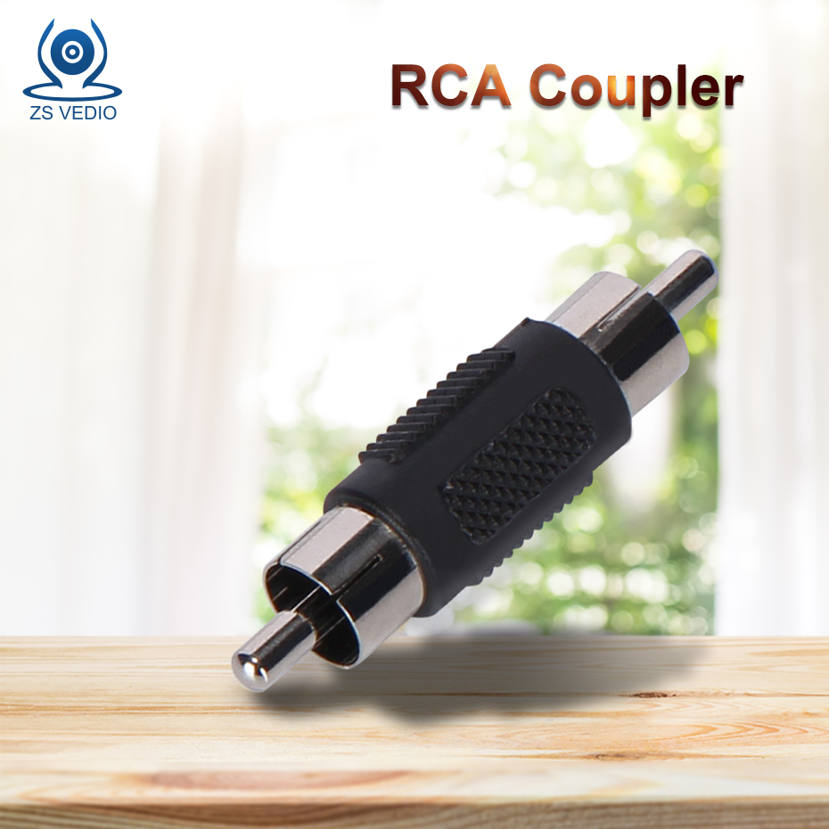 ZSVEDIO Surveillance Cameras IP Camera RCA Male To Male RCA Coupler Connector Adapter CCTV Products Accessories Camera System