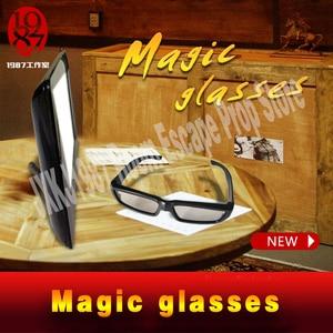 Image 5 - 新しいエスケープルーム小道具マジックメガネ魔法を見つけるメガネに見えない手がかり JXKJ1987 表示され実生活ルームエスケープ