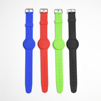 100pcs/lot 13.56Mhz RFID Bracelet Wristband MF 1K S50 Proximity Waterproof Silicone NFC Smart Watch Type for Access Control