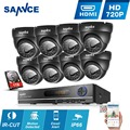 New SANNCE HD 1080N 8CH HDMI DVR 720P IR-CUT CCTV Cameras Home Security System 8 channel video surveillance kits 1TB