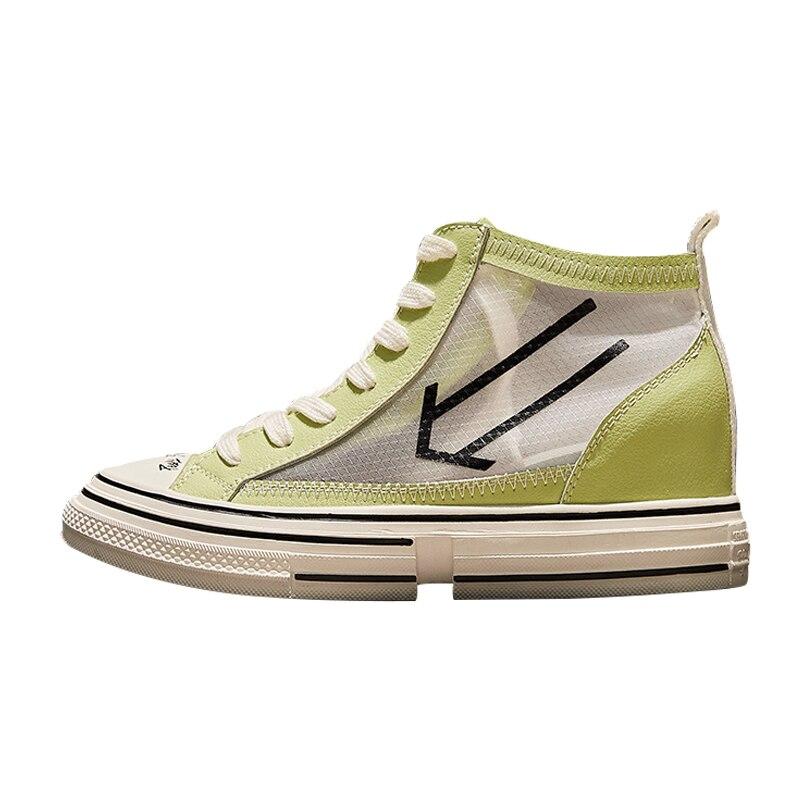 RY РЕЛА/Модная женская обувь на высоком каблуке; Новинка 2019 года; сетчатая дышащая повседневная спортивная обувь красного цвета - 5