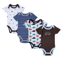 4 Pieces/lot Baby Rompers Lovely Cotton Character New Brand Girl Boys Body Suits One-Pieces Toddler Infant Rompers Clothing