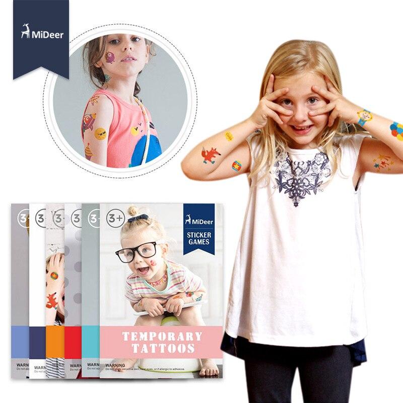Henna Tattoo Kits For Kids: Mideer Cartoon Kids Temporary Tattoos Kits Body Art