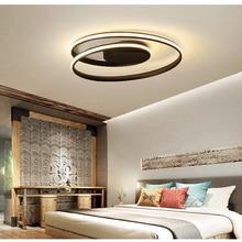 Modern LED Ceiling light For Living Room Bedroom Study Room Kitchen White black color surface mounted Hang Lamp Deco AC85-265V цена и фото