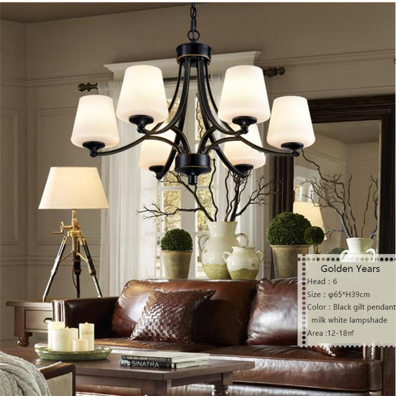 Retro Vintage LED Pendant Lights Glass Lampshade Loft Iron Pendant Lamp light E27 220V for Home Bar Restaurant Lighting Fixture led lamp creative lights fabric lampshade painting chandelier iron vintage chandeliers american style indoor lighting fixture