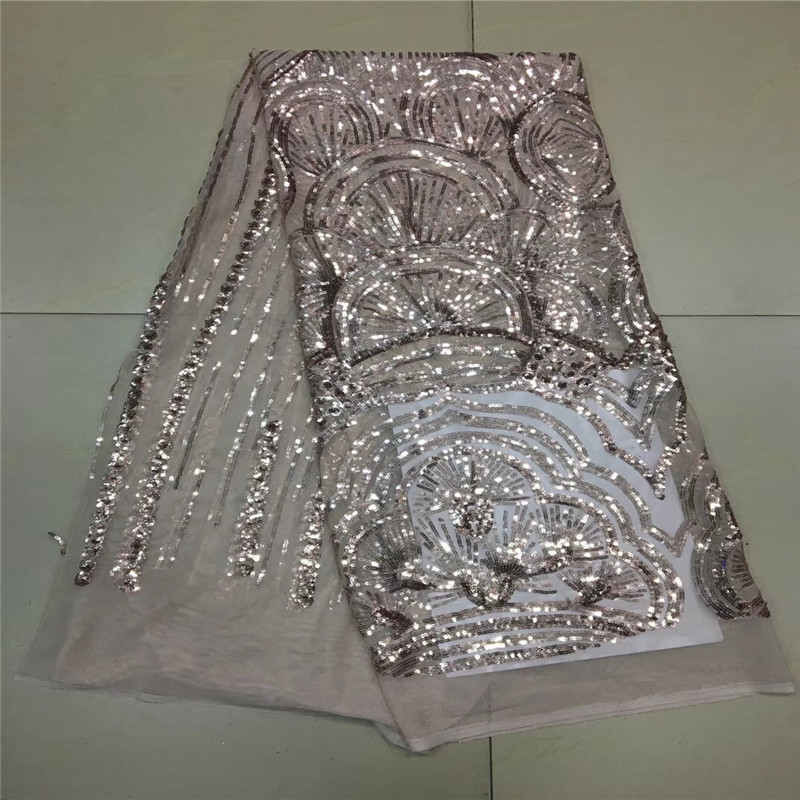 multi color Sequin Lace Fabric  African Lace fabric with Sequins High Quality white Sequin Fabric for dresses X93-1