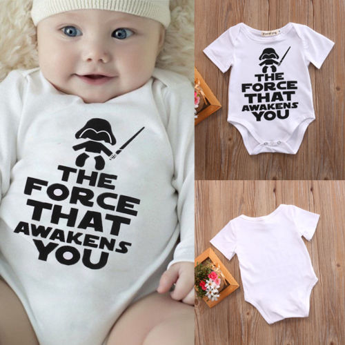 2019 New Star Wars Infant Baby Boy Summer Shirt Cotton Cute Comfortable High Quality Bodysuit Clothes Sunsuit