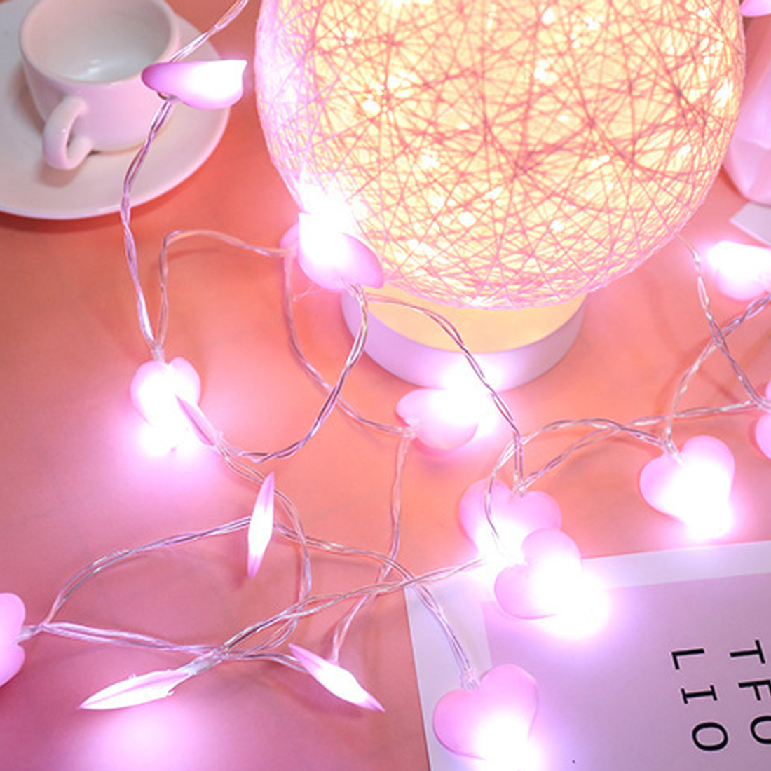 Lighting Strings 2019 Fashion Heart Shape 1m/3m/4m/5m Led String Light Lamp Room Garden Christmas Wedding Party Decoration Lights & Lighting