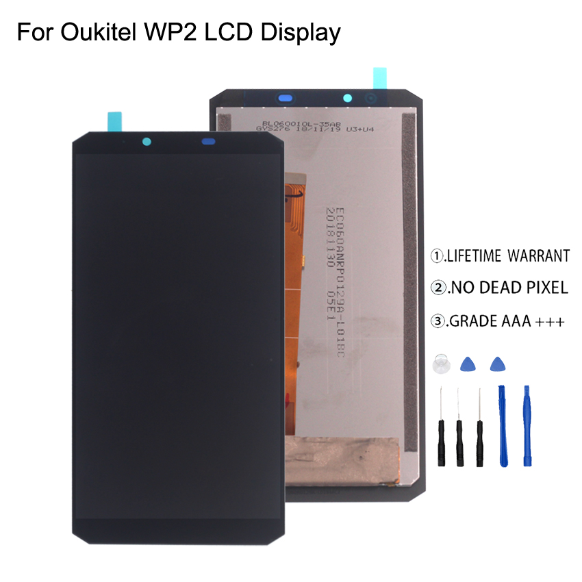 Original For Oukitel WP2 LCD Display Touch Screen Digitizer For Oukitel WP2 Display Screen LCD Phone Parts Free Tools in Mobile Phone LCD Screens from Cellphones Telecommunications
