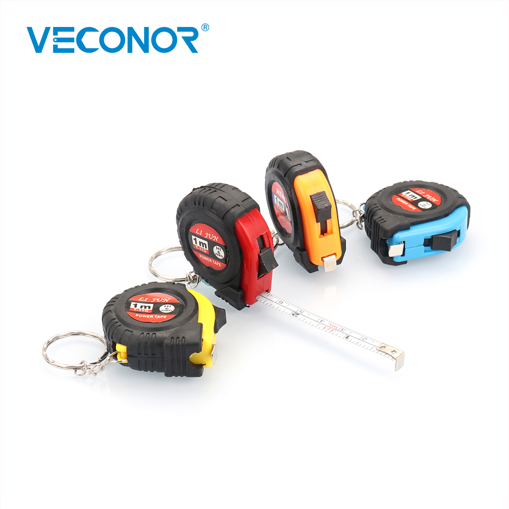 VECONOR 1M Mini Portable Tape Measure Ruler Retractable Pull Keychain 1m/3ft Household Measuring Tools Mini Pocket Size Easy Use new 1pc 1m 3ft easy retractable ruler tape measure mini portable pull ruler keychain color random