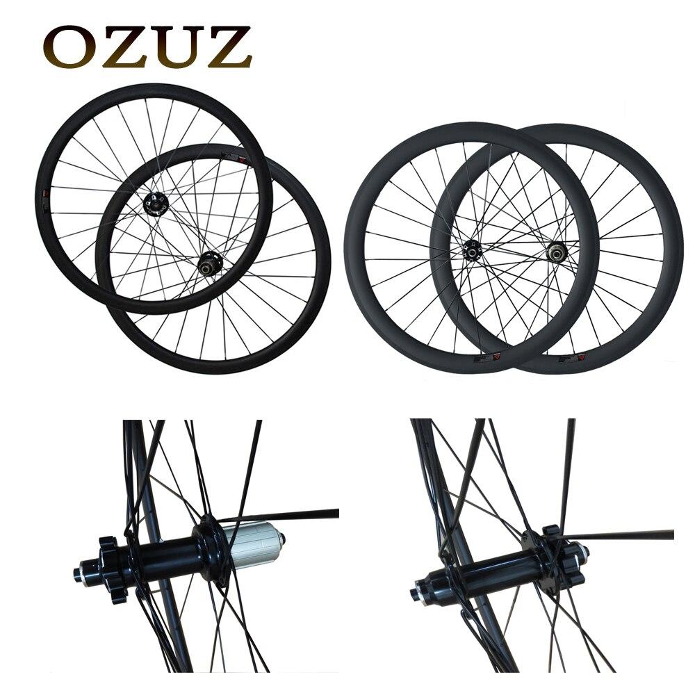 50mm profonde disque de frein 700c route roue 23mm large carbone roues enclume tubulaire cyclocross mat roue de bicyclette Personnalisé taxe incluse