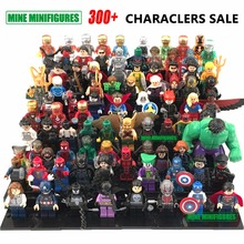 Building Block Avengers Marvel DC SuperHeroes Batman VS Superman Spiderman flash deadpool Minifigures Toys