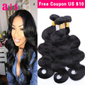 7A Peruana Virgin Hair Body Wave 3 Bundles Onda Del Cuerpo Peruano Sin Procesar Armadura Del Pelo Peruano Bundles Queen Hair Products