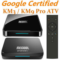 Mecool Androidtv 9,0 KM3 KM9 Pro ATV коробка Google Сертифицированный S905X2 4 K медиаплеер 2,4G/5G WiFi KM9 Android 9,0 смарт-приставка
