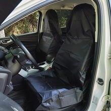 AUMOHALL – housses universelles de siège avant de voiture, 2 pièces, à enfiler, en tissu Oxford imperméable noir