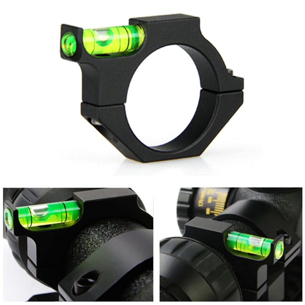 Metal Spirit Bubble Level for 25.4mm Rail Rifle Tube Riflescope Sight Scope Ring Mount Holder Tactical Optics Laser Sight image