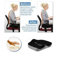 Turetrip Memory Foam Seat Cushion Office Coccyx Seat Cushion Relief PainImproves Posture Home Office Chair Car Cushion