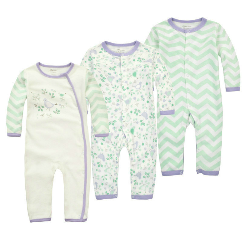 2017 Autumn Newborn baby Cotton Sleeper Pajama Playsuit One Piece Romper Infant Long Sleeve Baby Wear Girl Clothes FreeShipping newborn infant baby boy girl clothes long sleeve printing romper toddler baby cotton summer one piece outfits