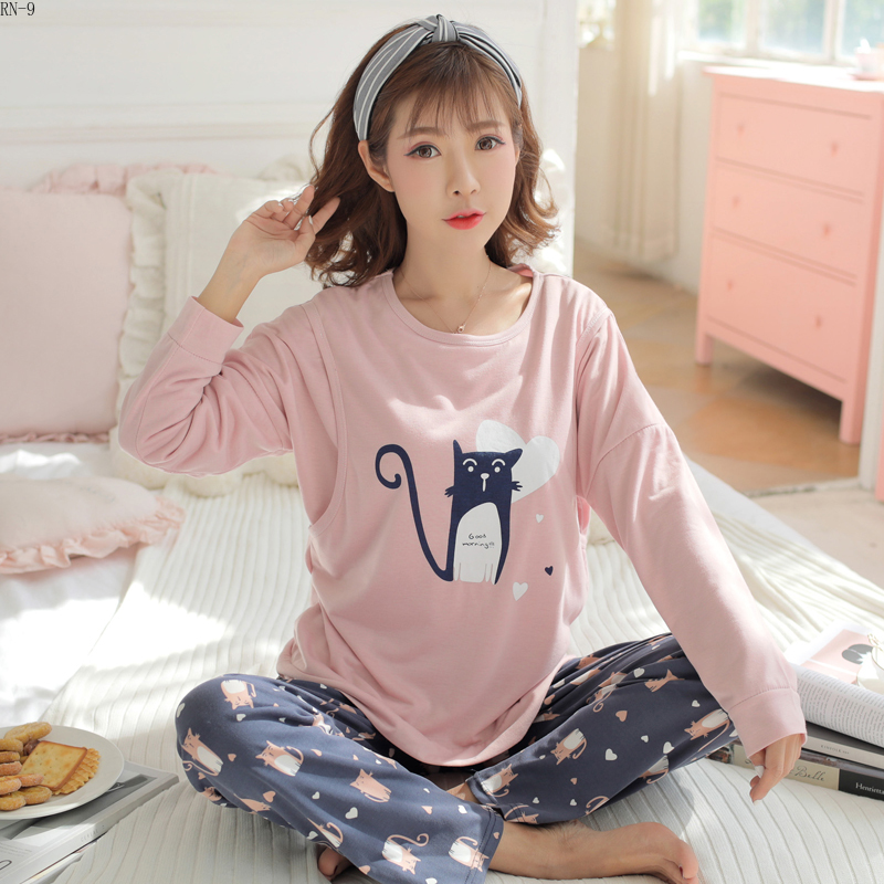 Maternal Nightwear 2019 Autum Breastfeeding Clothes Spring Maternity Pijamas Long Sleeve Women Sleepwear Set Mother Pyjamas Set