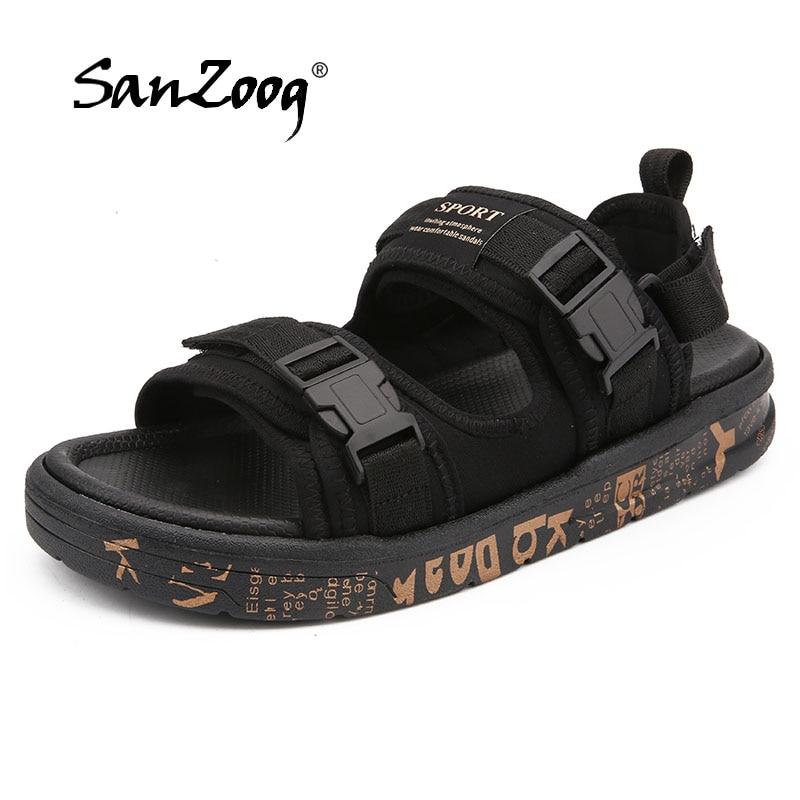 Solid Sandals Mens Shoes 2018 New Summer Beach Sandals Men Shoes Breathable Sandals Platform black men zapatos hombre zeacava men s summer shoes breathable beach sandals