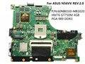 Para asus n56vv laptop motherboard hm76 60nb03j0-mb3020 gt750m 4 gb pga 989 ddr3 100% testado