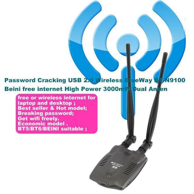 NUEVO 2015 USB 2.0 Wifi USB adaptador de tarjeta lan Inalámbrica a internet de Alta Potencia 3000 MW Dual Antena Wi fi wi-fi antenne