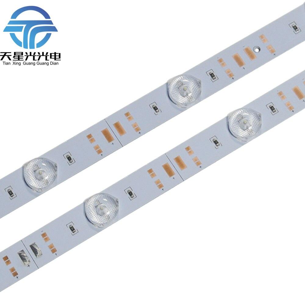 100pcs 95cm Diffuse Lens aluminium 3030 Led Rigid bar 1W led DC 12V for cabinet advertisement