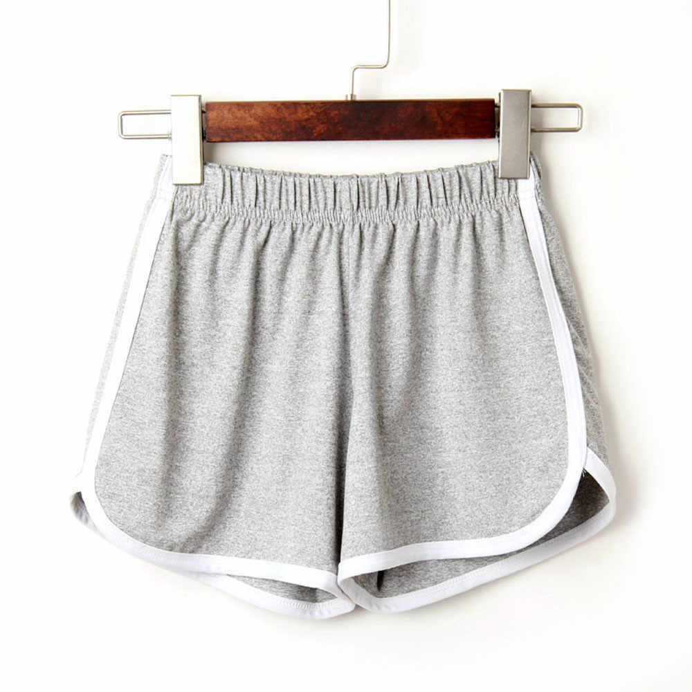 Feitong moda lato kobiet w domu na co dzień krótkie pani elastyczny pas spodenki bawełniane stałe plaża s na co dzień Mini krótka feminino