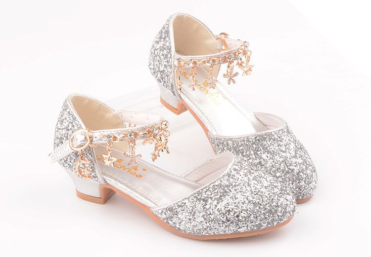 alto Chains Rhinestone Estudante Princesa sapatos de