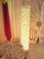 6pcs Luxury wedding t road column resin plastic wedding decoration Wedding carved pillar stand with warm white LED light