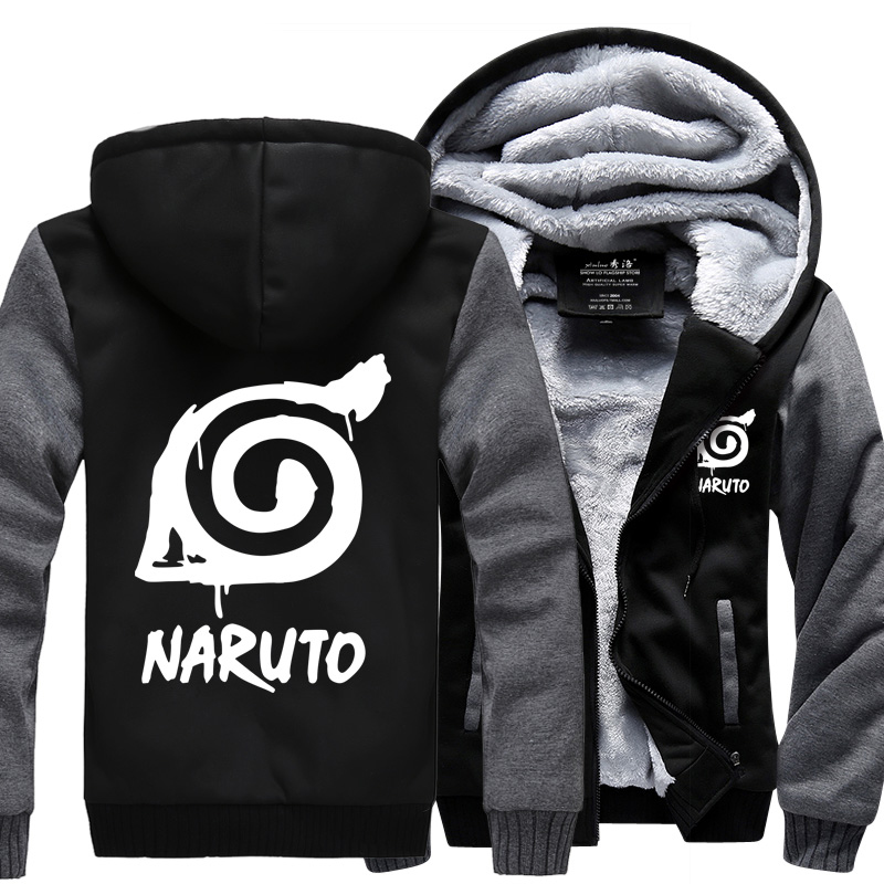 Anime Naruto Uzumaki Naruto Sweatshirts Hoodies Men 2018 Hot Sale Spring Winter Men Jacket Fashion Casual Mens Coat With Zipper in Hoodies amp Sweatshirts from Men 39 s Clothing