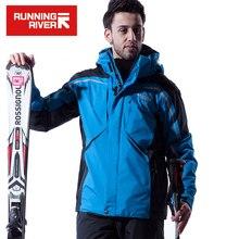 RIVIÈRE qui COULE Marque Hommes Hiver Ski Veste S-XXXL Taille Coupe-Vent Sport Vestes Pour Hommes Neige D'hiver En Plein Air Veste # A4038