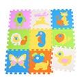 Фабрика пены eva головоломки пол подушку, ковер, ковер, мягкая сканирование играть коврик для ребенка, детские комнаты 30*30*1 см животных название playmat