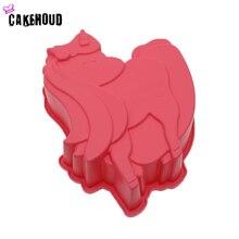 CAKEHOUD Cartoon 3D Unicorn Shape Silicone Mold Cake Chocolate Pudding Candy Decoration Baking Tools