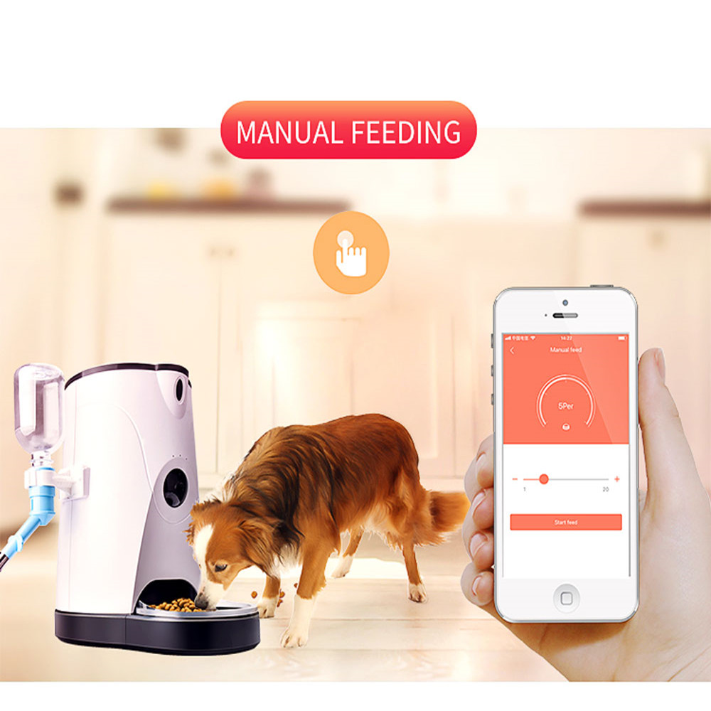 4L US/UK/EU PLUG Cat Dog Water Food Automatic Pet Feeder 110-240V Phone APP Remote Operation Automatic Pet Feeder for Dog Cat4L US/UK/EU PLUG Cat Dog Water Food Automatic Pet Feeder 110-240V Phone APP Remote Operation Automatic Pet Feeder for Dog Cat