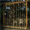 2 M x 2 M Ano Novo Guirlandas de Natal LED String Fada Luzes de Natal Xmas Garden Party Decoração Do Casamento Cortina Luz de fadas