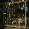 2M x 2M New Year Christmas Garlands LED String Christmas Lights Fairy Xmas Party Garden Wedding Decoration Curtain fairy Light