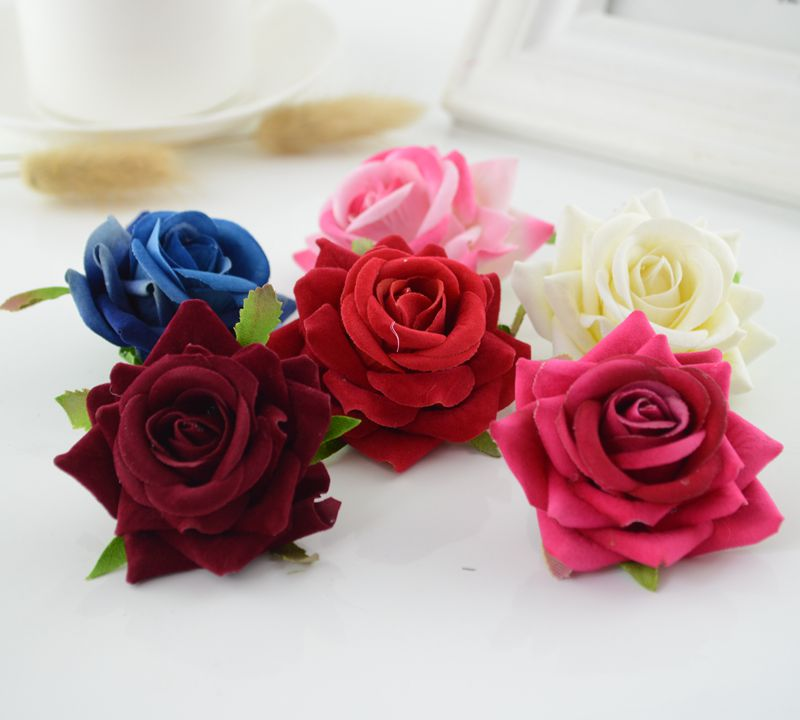 1pcs artificial rose handicraft DIY wreath Gift Scrapbooking Car Decoration Bride Bouquet home accessories decorative flowers