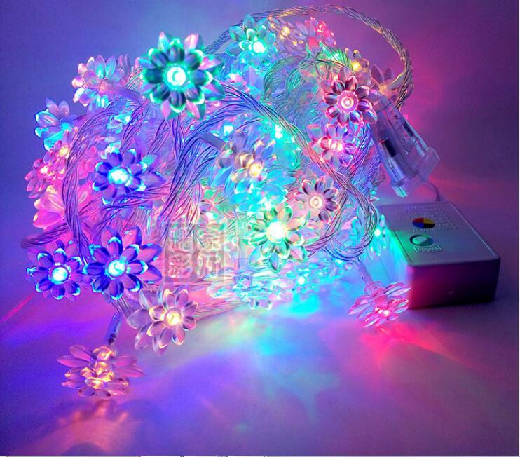 Led Light Strip 220V vedenpitävä kukka LED-nauha 10m 100 LED-merkkijonoja joulun joulun loma-puutarhaan koristeluun puolueelle