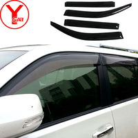 2014 2017 Door Window Visor For Toyota Land Cruiser Pardo FJ150 2015 2016 2017 Black Rain