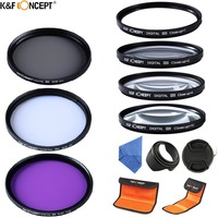 52 77mm Macro Close Up 1 2 4 10 Lenses Set Lens Hood UV CPL FLD