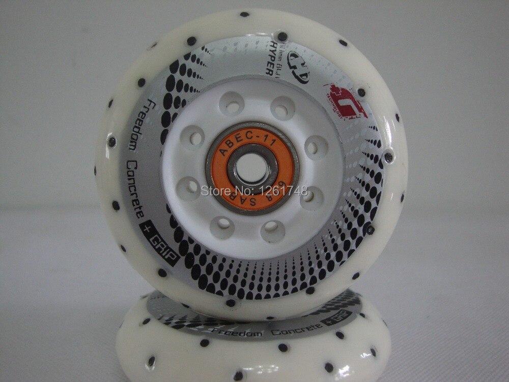 Prix pour 8 PCS (ABEC-9/ABEC11 roulements) super usure authentique slalom patins roue de silex/Skate wheels72mm 76mm 80mm 84a