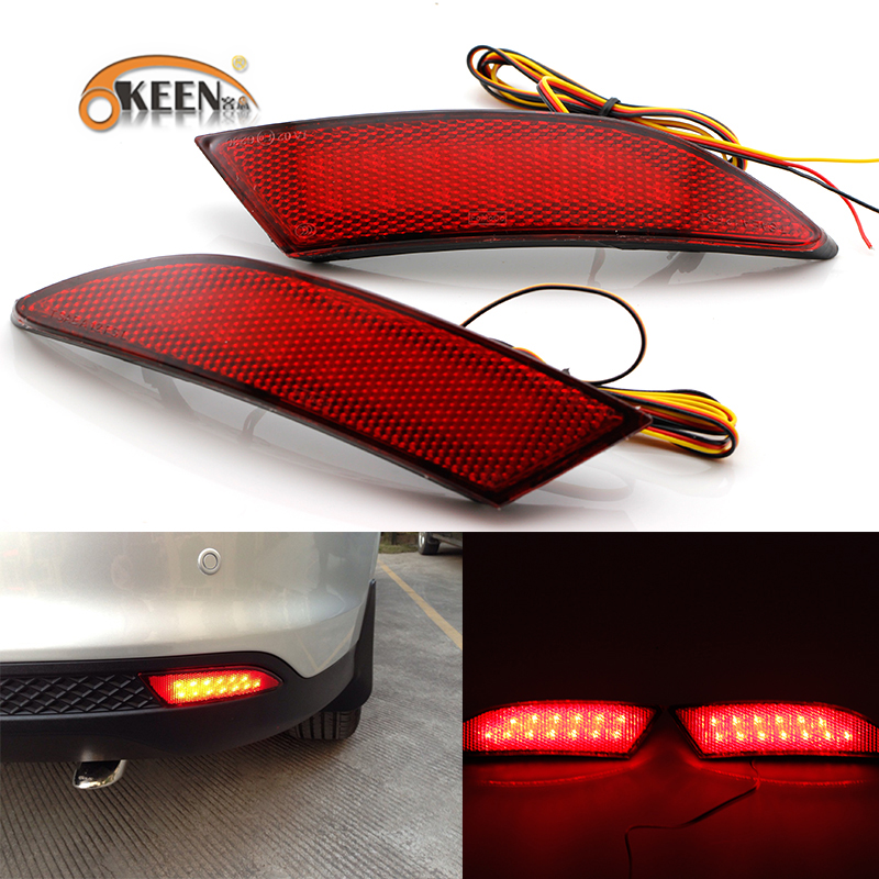 OKEEN Brand car stying  Rear Bumper Reflector Light for 2012 Ford Focus 12 V tail brake stop light Warning Light Brake /turn li