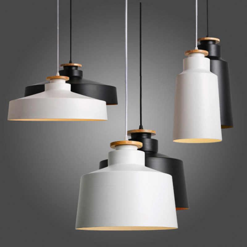 Pendant Light Wood Aluminium