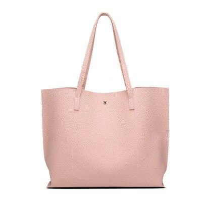 Women\'S Soft Leather Handbag Candy Color Women Shoulder Bag Shopper Tote Bucket Bag Women\'S Handbags