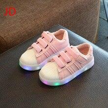 Jd nouvelle mode enfants shoes avec la lumière led enfants shoes lumineux rougeoyant espadrilles bébé bébé garçons filles shoes led ue 21-36