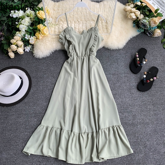 2019 Summer Solid Women Dress  4