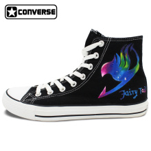 Anime Galaxy Fairy Tail Natsu Design Converse Chuck Taylor Mens Womens Shoes Hand Painted Sneakers High Top Christmas Gifts